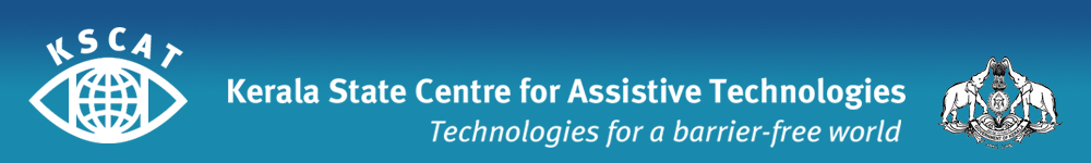 banner of Kerala State Centre for Assistive Technologies on a blue background